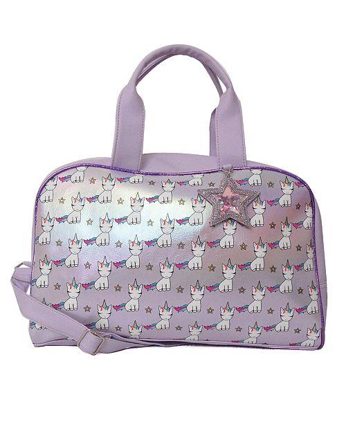 OMG! Accessories Lil Miss Gwen Printed Dome Metallic Duffle Bag