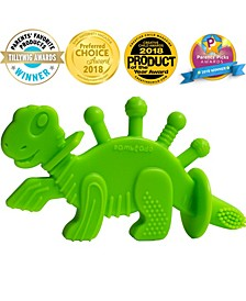 Dibly the Dino-Sore-No-More Baby Teether Toy and Training Toothbrush