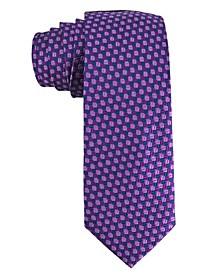 Men's Circle Design Silk Tie