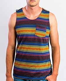Men's Sleeveless Jacquard Tee