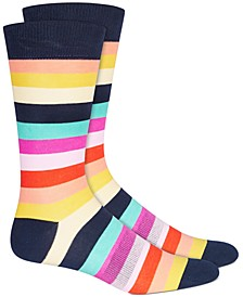 Men's Rainbow Stripe Socks, Created for Macy's