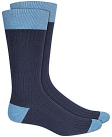 Men's Textured Colorblocked Socks, Created for Macy's
