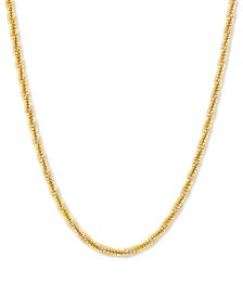 "Crisscross Twist Link 24"" Chain Necklace in 18k Gold-Plated Sterling Silver"