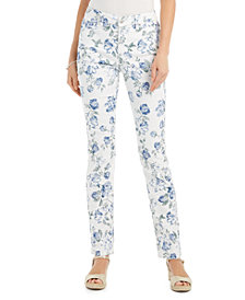 Charter Club Printed Jacquard Lexington Straight-Leg Jeans, Created for Macy's