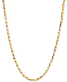 """Rope 20"""" Chain Necklace in 18k Gold-Plated Sterling Silver"""