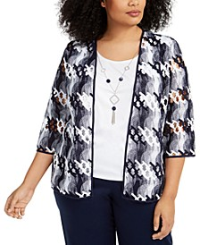 Plus Size Easy Street Two-For-One Necklace Top