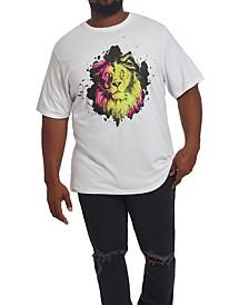 MVP Collections Men's Big & Tall Neon Lion T-Shirt