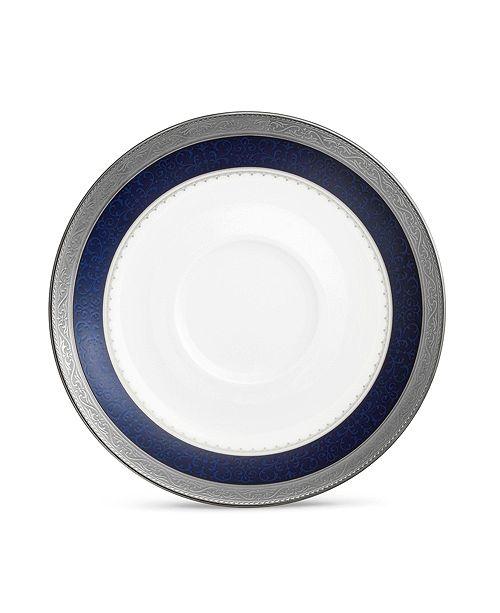 "Noritake Odessa Cobalt Platinum Saucer, 6"""