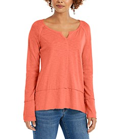 Split-Neck Tunic Sweatshirt, Created For Macy's