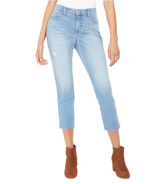Style & Co Straight-Leg Cropped Denim Jeans, Created for Macy's