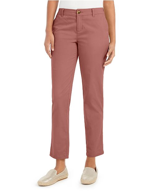 Style & Co Straight-Leg Chino Pants, Created for Macy's