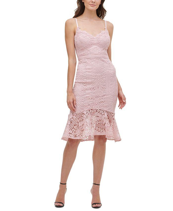 GUESS - Flounce-Hem Lace Dress