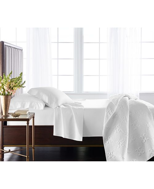 Hotel Collection Classic 800 Thread Count White Egyptian Cotton King Extra Deep Flat Sheet, Created for Macy's