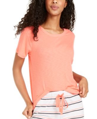 Super-Soft Ribbed Pajama T-Shirt, Created For Macy's
