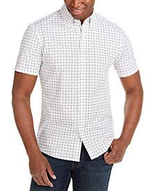 Michael Kors Men's Slim-Fit Stretch Tile-Print Shirt