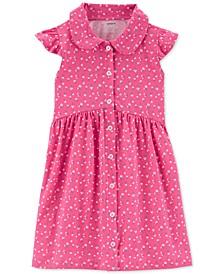Toddler Girls Cotton Floral-Print Shirtdress