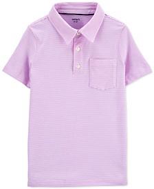 Little & Big Boys Striped Textured Cotton Polo Shirt