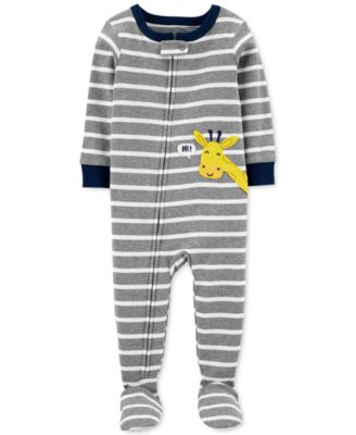 Carter/'s Boy/'s Size 4T Striped DUMP TRUCK Cotton Footed Pajamas