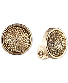 Mesh Ball Clip-On Button Earrings