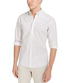 Men's Slim-Fit Stretch Mini-Dot Print Shirt