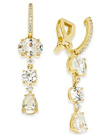 Cubic Zirconia Clip-On Drop Earrings, Created for Macy's