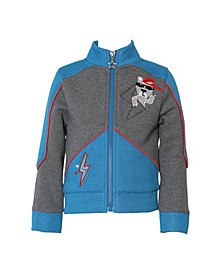 Toddler and Little Boys Fleece Zip-Up Jacket