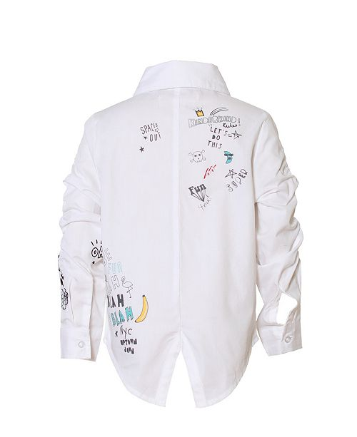 Kinderkind Toddler and Little Boys Graphic Button Up Shirt