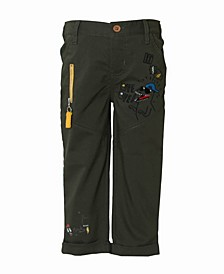Toddler and Little Boys Flat Front Stretch Trouser