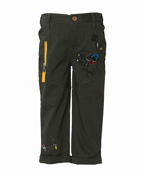 Kinderkind Toddler and Little Boys Flat Front Stretch Trouser