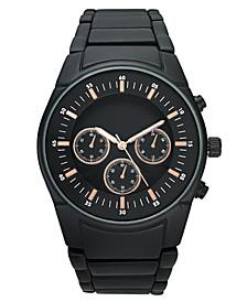 INC Men's Matte Black Bracelet Watch 46mm, Created for Macy's