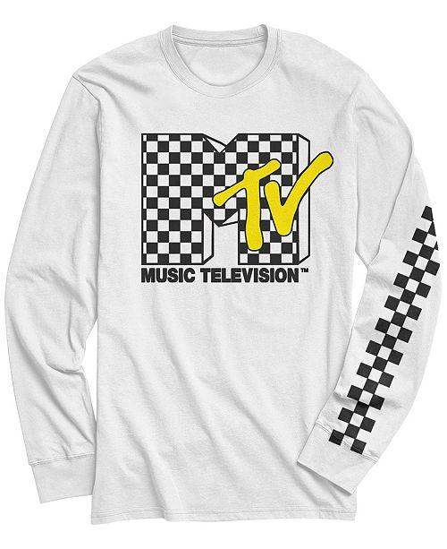 Fifth Sun Men's Retro Checkered Logo Long Sleeve T- shirt