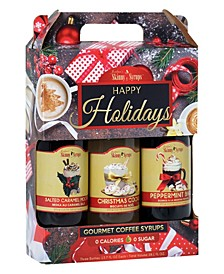 Happy Holiday Syrup Trio - Salted Caramel Mocha, Christmas Cookie, Peppermint Bark