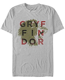 Harry Potter Men's Gryffindor Lion Roar Short Sleeve T-Shirt