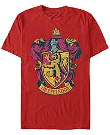 Harry Potter Men's Hogwarts House Gryffindor Crest Short Sleeve T-Shirt