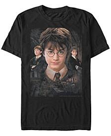 Harry Potter Men's Ron Hermione Harry Trio Poster Short Sleeve T-Shirt