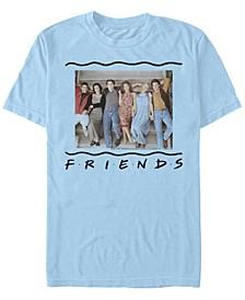 Friends Men's 90s Porch Group Portrait Short Sleeve T-Shirt