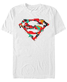 DC Men's Superman Geometric Chest Logo Short Sleeve T-Shirt