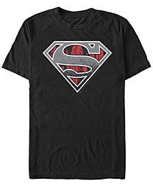 DC Men's Superman Concrete Logo Short Sleeve T-Shirt