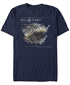 DC Men's Superman Daily Planet Newspaper Logo Short Sleeve T-Shirt
