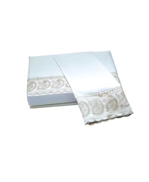Belle Epoque 200 Tc San Remo Lace Paisley Sheet Set, King Bedding