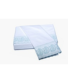 200 TC San Remo Lace Paisley Sheet Set