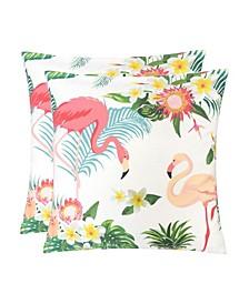 Outdoor Pillow, Flamingo - Set of 2