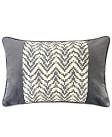 Hannah Chevron Bow Throw Pillow