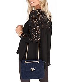 Pandora Shaggy Box Handbag with Chain Strap