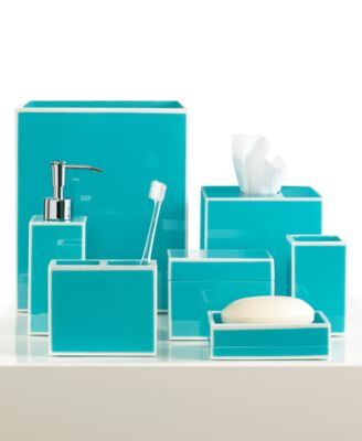 Kassatex Bath Accessories, Blue Soho Collection