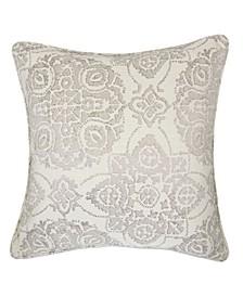 Harper Jacquard Square Decorative Throw Pillow