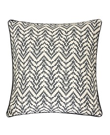 Zoe Chevron Bow Square Decorative Throw Pillow