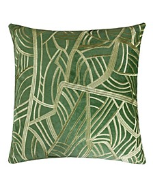 Forest Embroidery Velvet Square Decorative Throw Pillow