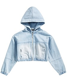 Big Girls Denim Hoodie Jacket