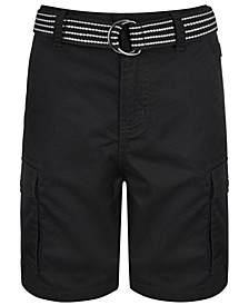 Big Boys Cargo Shorts with Removable D-Ring Belt, Created For Macy's